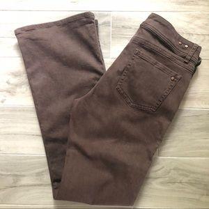 CAbi Brown Denim Bootcut Jeans Style #512L Size 14